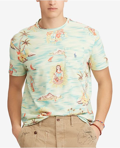 f7aed5adb4 Polo Ralph Lauren Men s Classic Fit Printed T-Shirt   Reviews - T ...