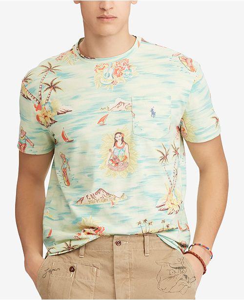 b22ee4bca Polo Ralph Lauren Men's Classic Fit Printed T-Shirt & Reviews - T ...