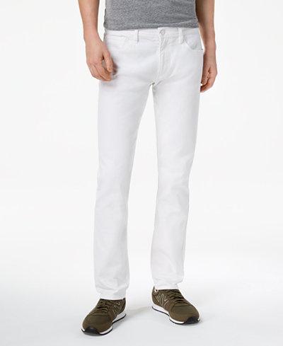 Armani Exchange Men's Slim Straight Fit Stretch Jeans