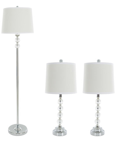 Trademark set of 3 crystal lamp set