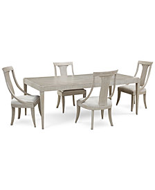 Rachael Ray Cinema Expandable Dining Furniture, 5-Pc. Set (Rectangular Dining Table & 4 Sling Back Dining Chairs)