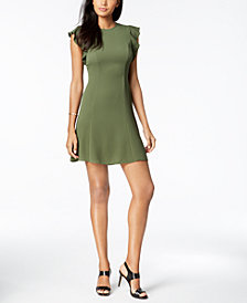 MICHAEL Michael Kors Flutter-Sleeve Shift Dress