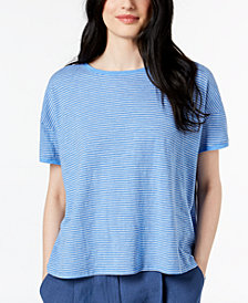 Eileen Fisher Hemp Striped Top, Regular & Petite