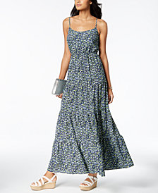 MICHAEL Michael Kors Printed Tiered Maxi Dress, Regular & Petite