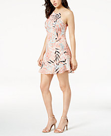 GUESS Dorothy Printed Lace-Up Dress