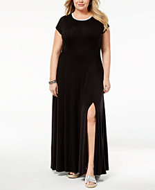 MICHAEL Michael Kors Plus Size Cap-Sleeve Maxi Dress