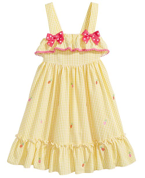 Gingham Pineapple Dress, Little Girls