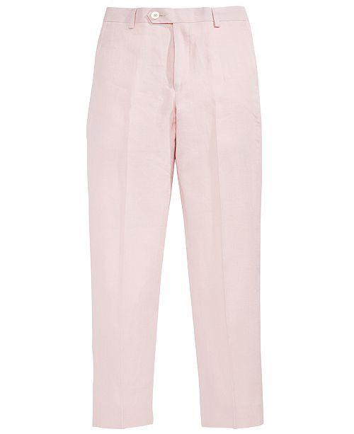 Lauren Ralph Lauren Pink Linen Pants, Big Boys