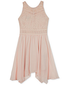 BCX Big Girls Lace-Bodice Dress