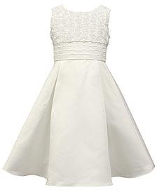 Jayne Copeland Soutache Rose Pleated Dress, Little Girls