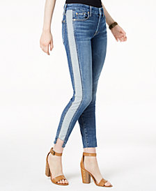 7 For All Mankind Ankle Skinny with Contrast-Stripe Jeans