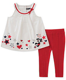 Tommy Hilfiger 2-Pc. Stars Tunic & Leggings Set, Baby Girls