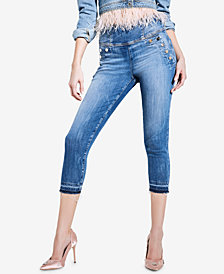GUESS High-Rise Curvy-Fit Capri Jeans