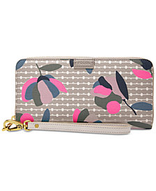 Fossil Emma RFID Zip Around Printed Wallet