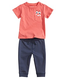 Pocket T-Shirt & Pants Separates, Baby Boys, Created for Macy's