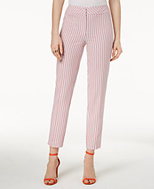 Nine West Seersucker Skinny Pants