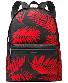 Michael Kors Men's Kent Palm-Print Backpack