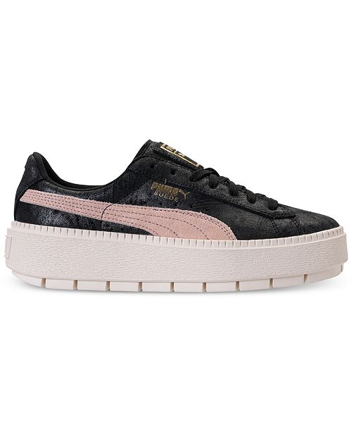 0c985ca68ae ... Puma Women s Suede Platform Trace Shimmer Casual Sneakers from Finish  ...