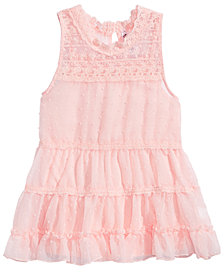 Beautees Ruffle Lace Tank Top, Big Girls