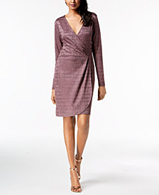 French Connection Jacquard Wrap Dress