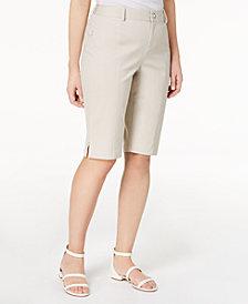 I.N.C. Curvy-Fit Bermuda Walker Shorts, Created for Macy's