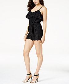 GUESS Francine Ruffled Lace Romper