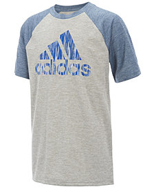 adidas Logo-Print Raglan-Sleeve T-Shirt, Big Boys