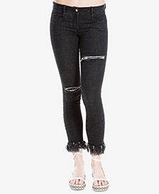 Max Studio London Ripped Skinny Jeans, Created for Macy's