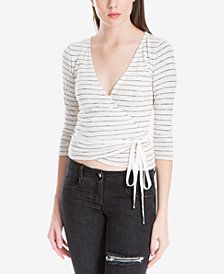 Max Studio London Striped Wrap Top, Created for Macy's