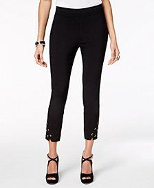 Thalia Sodi Lattice-Hem Capri Pants, Created for Macy's
