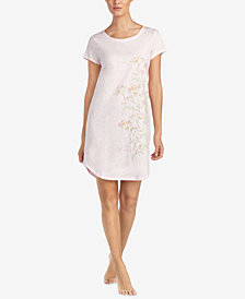 Lauren Ralph Lauren Slub Jersey Cotton Floral-Graphic Nightgown