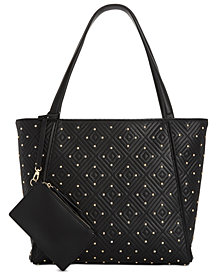 I.N.C. Quiin Quilted Studded Tote, Created for Macy's