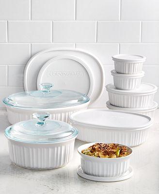 Corningware French White 18 Piece Bakeware Set Bakeware Kitchen