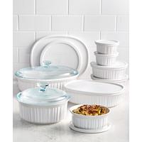 Deals on Corningware French White 18 Piece Bakeware Set