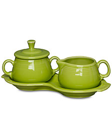 Fiesta Lemongrass Sugar and Creamer Set
