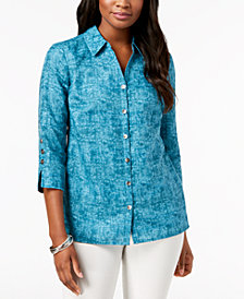 JM Collection Textured Blouse, Created for Macy's