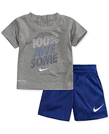 Nike 2-Pc. Awesome-Print T-Shirt & Shorts Set, Baby Boys