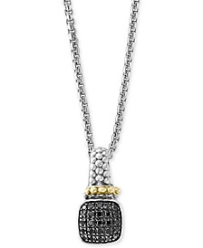 "Balissima by EFFY® Diamond 18"" Pendant Necklace (1/6 ct. t.w.) in Sterling Silver & 18k Gold"