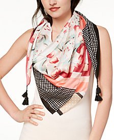 I.N.C. Printed Square Scarf, Created for Macy's
