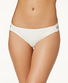 Roxy Surf Memory Crochet Strappy Bikini Bottoms
