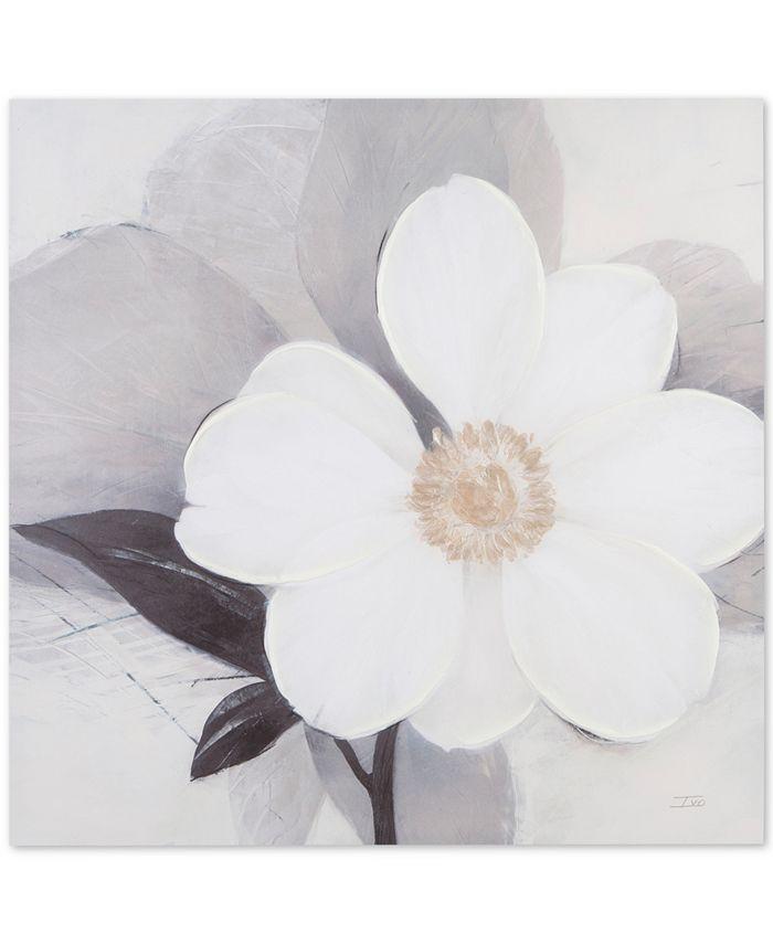 "JLA Home - Madison Park Midday Bloom 30"" 30"" Hand-Embellished Canvas Print"