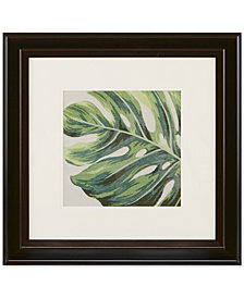 "Harbor House Monstera Leaf 20"" x 20"" Decorative Embroidered Botanical Wall Art"
