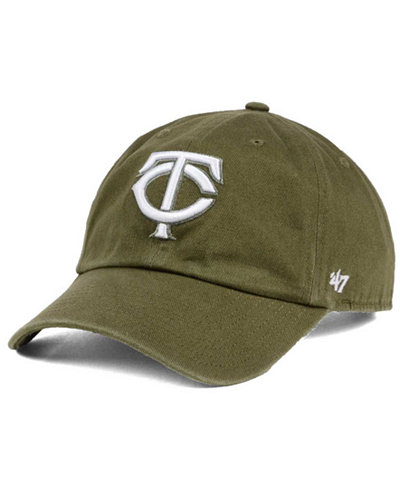 '47 Brand Minnesota Twins Olive White CLEAN UP Cap