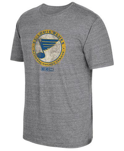 CCM Men's St. Louis Blues Heritage Logo T-Shirt