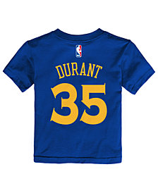Nike Kevin Durant Golden State Warriors Replica Name & Number T-Shirt, Toddler Boys (2T-4T)