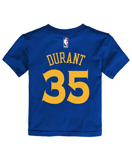 24a5a0596 ... Nike Kevin Durant Golden State Warriors Replica Name   Number T-Shirt