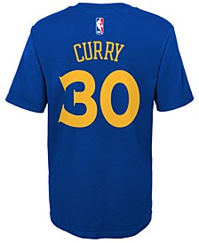 Stephen Curry Golden State Warriors Replica Name & Number T-Shirt, Little Boys (4-7)