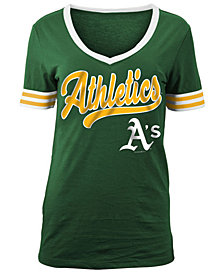 5th & Ocean Women's Oakland Athletics Retro V-Neck T-Shirt