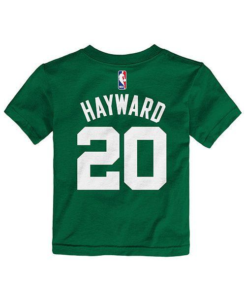 super popular 61952 37978 Gordon Hayward Boston Celtics Replica Name & Number T-Shirt, Toddler Boys  (2T-4T)