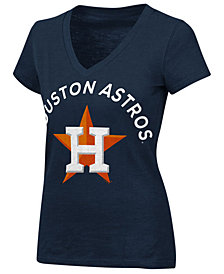 G-III Sports Women's Houston Astros Classic Logo V-Neck T-Shirt